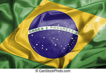 Brazil waving flag