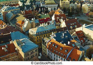 Riga (Latvia) in the eveninge - Riga (Latvia) in the...