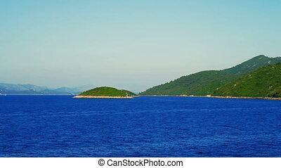 Departure from Island Mljet, Dubrovnik archipelago, Croatia....