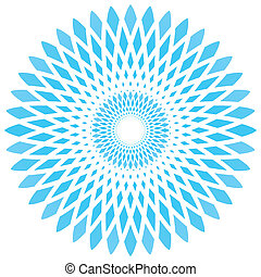 vector abstract blue circle flower