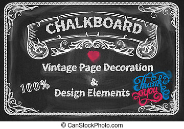 Page Decoration and Design Elements chalkboard design