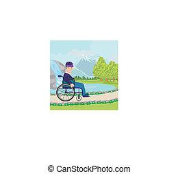 invalid on walk
