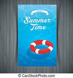 Red lifebuoy - Vector illustration (eps 10) of Red lifebuoy...