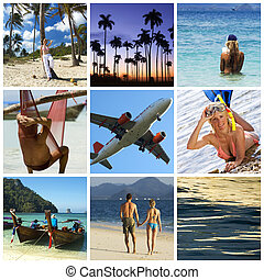 Vacation collage - Beautiful vacation collage made from nine...