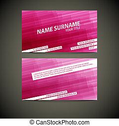 Vector modern business card template