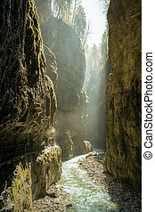 Partnachklamm Garmisch-Partenkirchen - An image of the...
