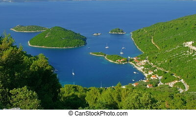 Island Mljet - Small Croatian fishing village on island...