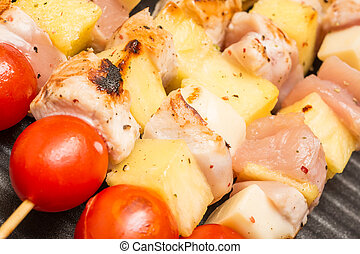 Exotic Chicken Skewers - Exotic Skewers With Chicken Meat,...