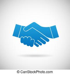 poignée main, coopération, association,...