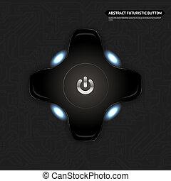 Abstract Futuristic Button Icon Vector Illustration