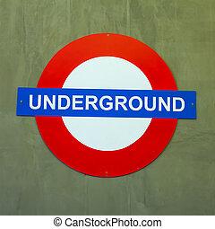 sign - underground sign