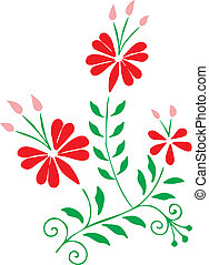 Hungarian embroidery design - Authentic hungarian embroidery...