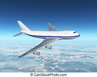 Airliner - Computer generated 3D illustration with an...