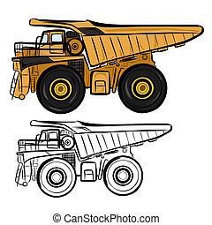 Dumper 1 - Vector illustration : Dumper sketch on a white...