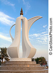Welcome symbol in Qatar - The coffee pot sculpture...