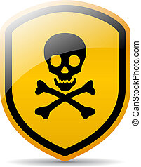 Danger skull sign isolated on white