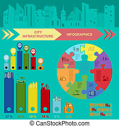 Set of elements infrastructure city, vector infographics...