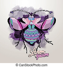 Vector decorative insect butterfly art vector background
