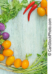 mixed vegetables border