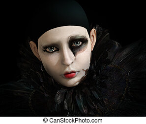 Black Pierrot, 3d CG - 3D computer graphics of a Pierrot...