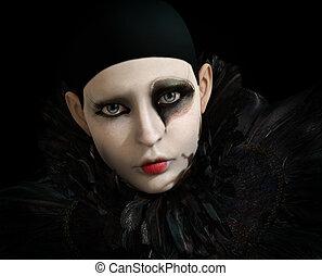Black Pierrot, 3d CG - 3D computer graphics of a Pierrot...
