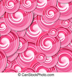 Candy Background - Pink candy lollipop background. Seamless...