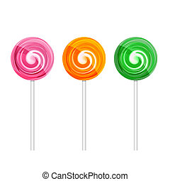 Set of lollipops - Set of colorful lollipops Vector EPS10...