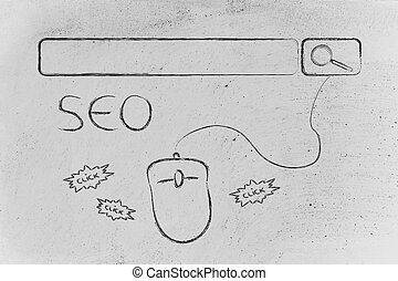 SEO, search engine optimization - conceptual design about...