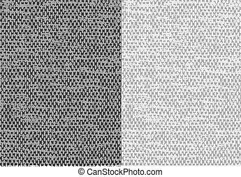 Abstract textured canvas  linen fabric background. Vector.