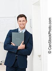 Smiling confident young job applicant