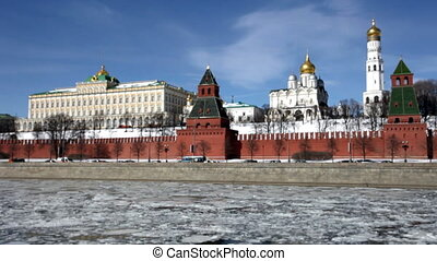 View of the Moscow Kremlin in the spring
