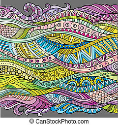 Abstract vector decorative waves background - Abstract...