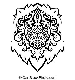 Lion head Ethnic pattern - Lion head Tribal pattern Ethnic...