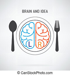 Creative left and right brain sign - Creative left brain and...