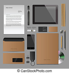 Corporate identity mock-up classic style - Corporate...