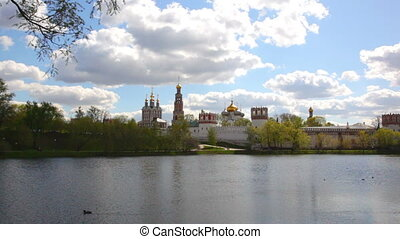 Novodevichy Convent in Moscow, shooting with approach