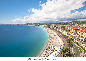 Long Exposure of coastline in Nice, France