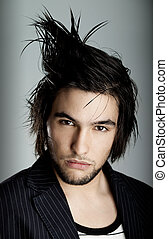 HairStyle - Good looking  young man with modern HairStyle