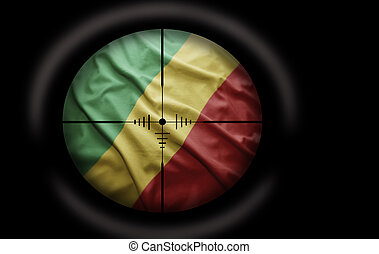 Republic of the Congo Target - Sniper scope aimed at the...
