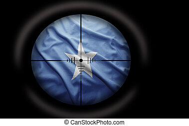 Somalian Target - Sniper scope aimed at the Somalian flag
