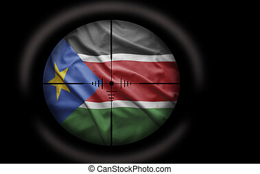 South Sudan Target - Sniper scope aimed at the South Sudan...