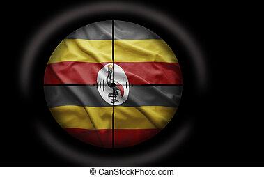 Ugandan Target - Sniper scope aimed at the Ugandan flag