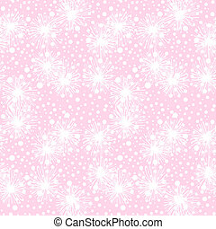 Vector seamless pattern with small furry flowers, pompoms or...