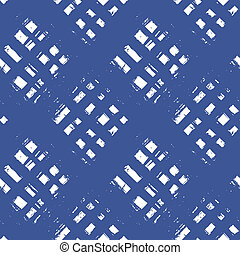 Plaid pattern with wide brushstrokes and stripes - Vector...