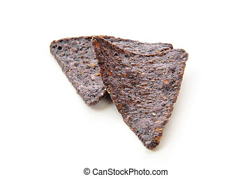 Blue corn tortilla chips - Organic blue corn tortilla chips...