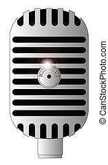 Classic Microphone - A classic microphone isolated on a...