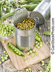 Canned Peas - Small portion of canned Peas with some fresh...