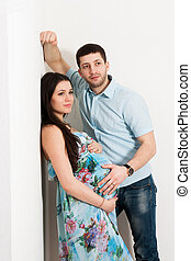 Portrait of couple expecting a baby