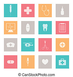 Vector Medical Icons - Vector Illustration of Medical Icons