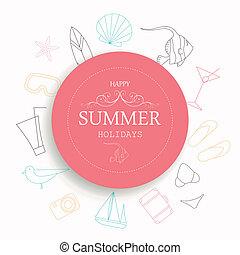 Vector Summer Vacation Emblem